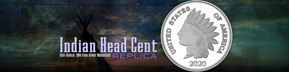 New! 2020 Dated Indian Head Cent Replica 1oz Silver Rounds