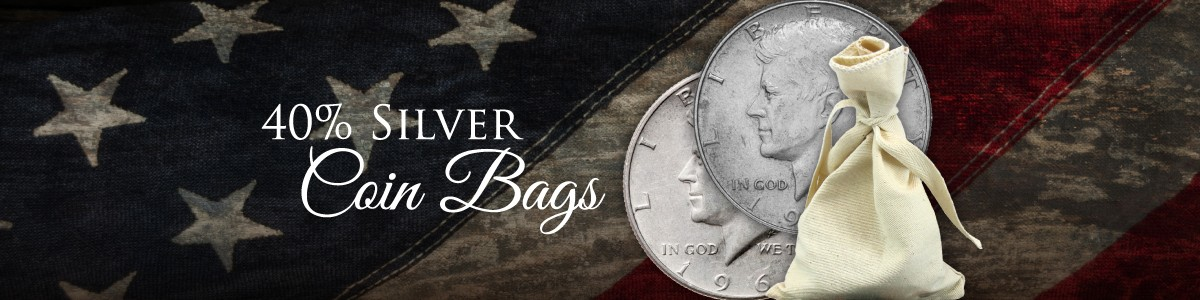 Bags of 40% Silver Coins