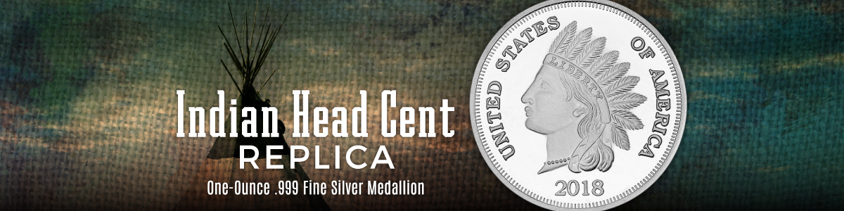 Indian Head Cent Replica Silver Rounds