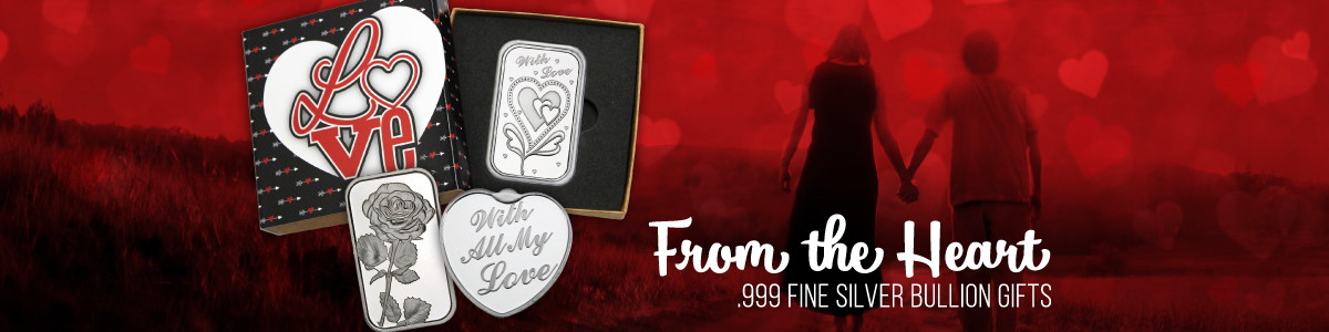 Love Themed .999 Fine Silver Bullion