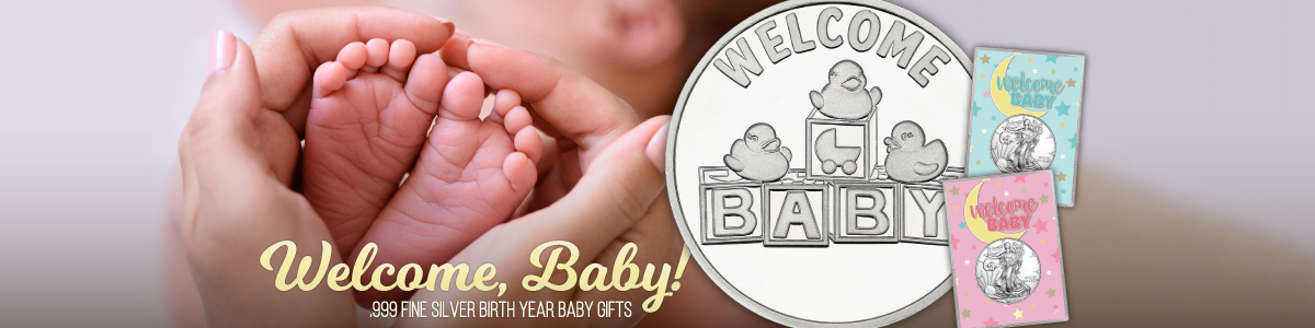 2018 Welcome New Baby Silver Bullion Gifts