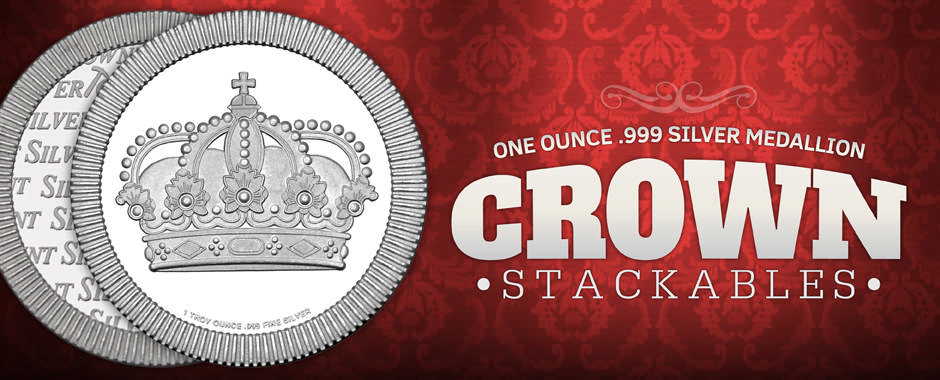 Crown Stackables 1oz Silver Medallions