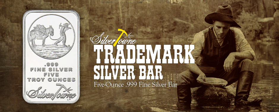 Trusted Brand SilverTowne Trademark 5oz Silver Bars