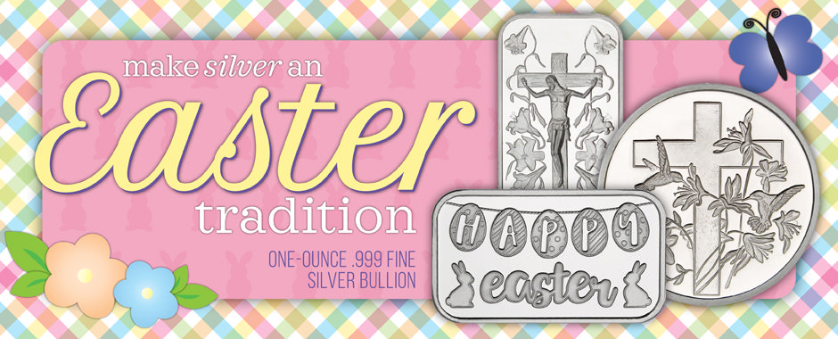 Easter Themed Pure Silver Bullion