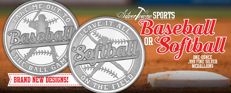 Baseball and Softball .999 Silver Rounds