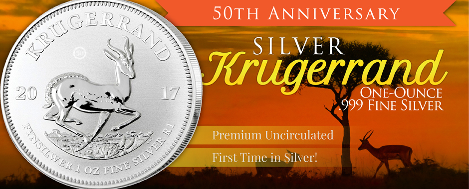 South Africa Krugerrand - 2017 50th Anniversary - Now Available