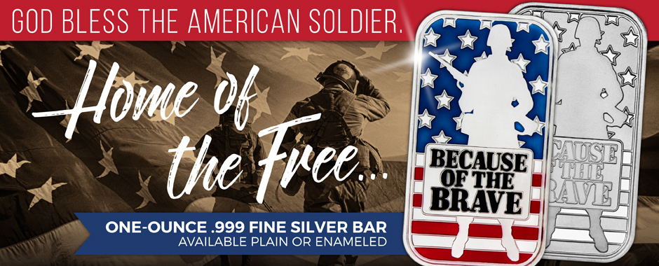 Patriotic Themed.999 Fine Silver Bullion