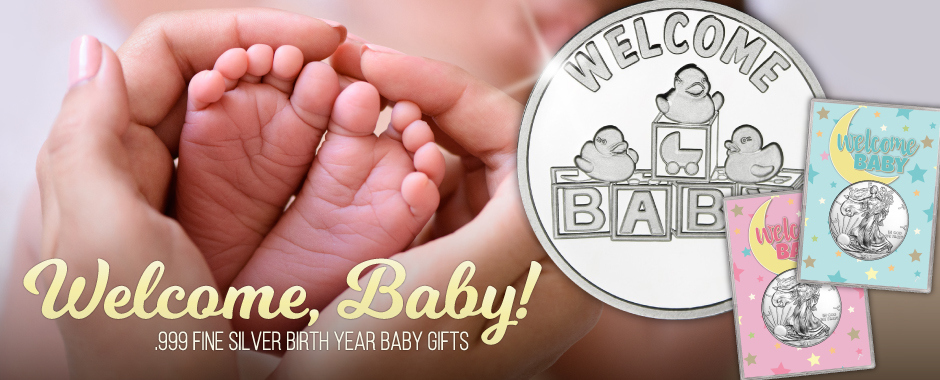 2017 Welcome New Baby Silver Bullion Gifts