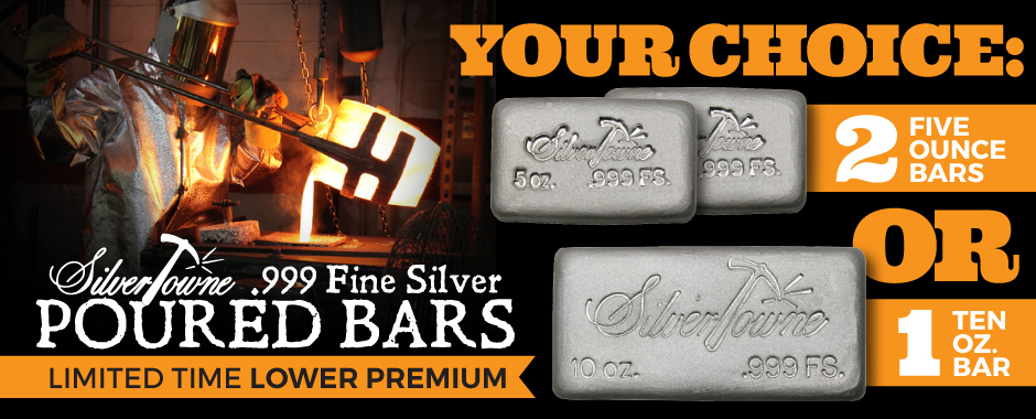 Poured Silver 10 Ounce Lots at Lower Premiums!