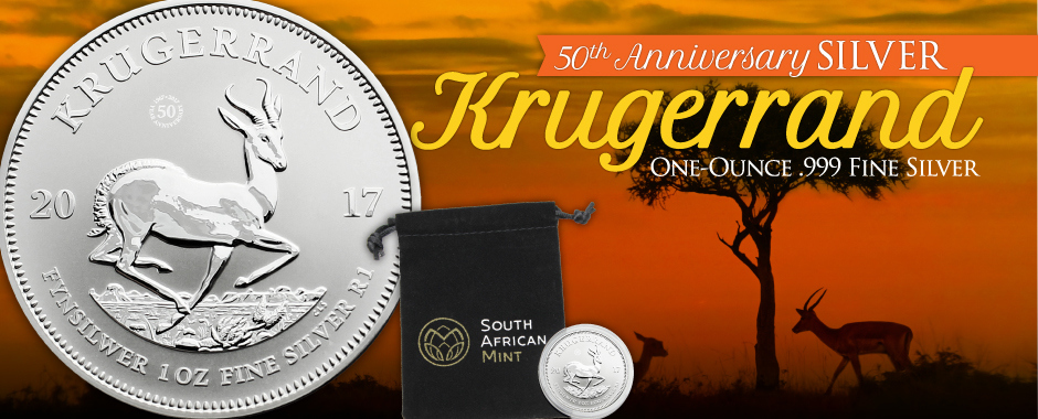 2017 Silver Krugerrand Coins - 50th Anniversary