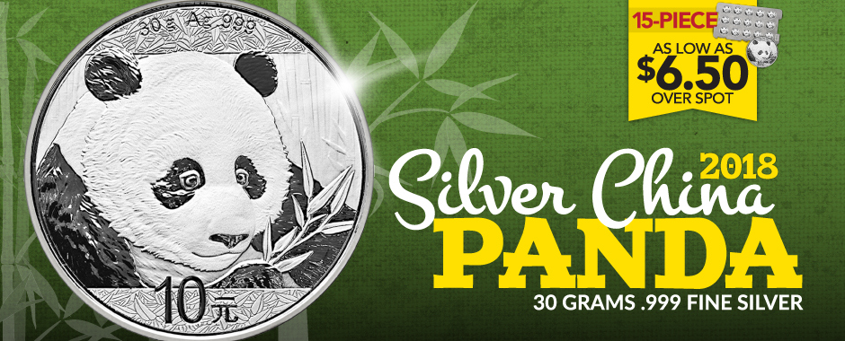 2018 30g Silver Pandas Sheets of 15 Lower Premiums!
