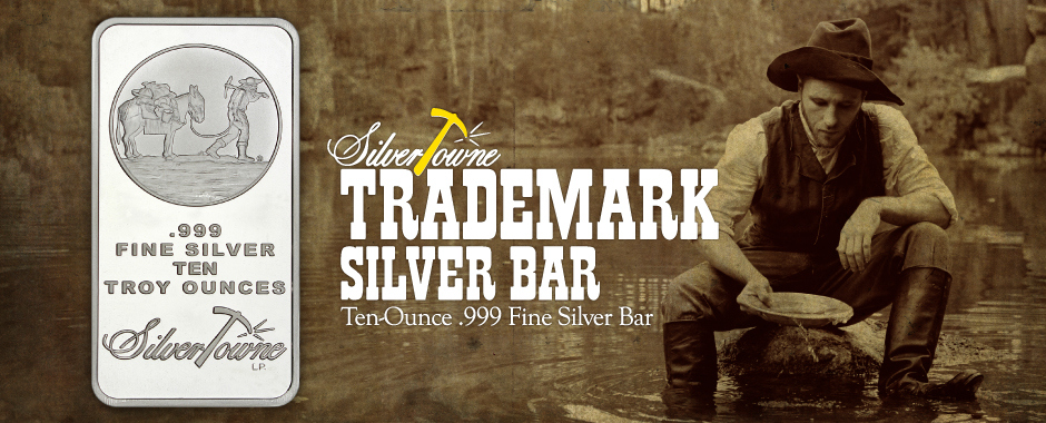 Trusted Brand SilverTowne Trademark 10oz Silver Bars