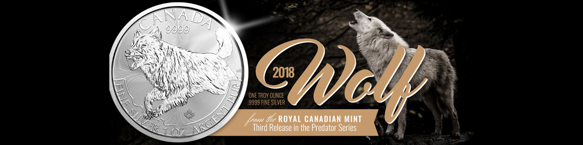2018 Canada Wolf Silver Coin of the Predator Series