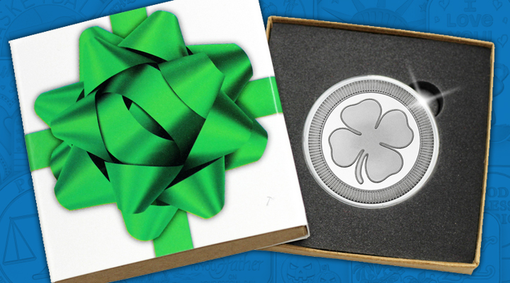 Four Leaf Lucky Clover 1oz .999 Silver Medallion - January Silver of the Month
