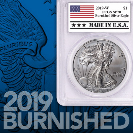2019W Burnished Silver American Eagle Coins