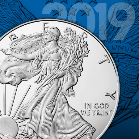 2019W Proof Silver American Eagle Coins