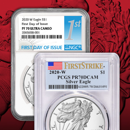 Certified Proof Silver American Eagles