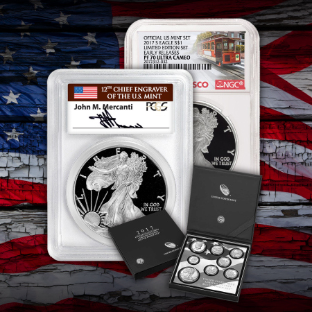 Certified Silver American Eagle Anniversary & Sets