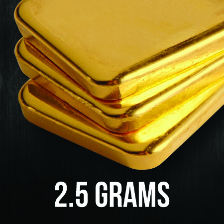 2.5 Gram Gold Bullion Bars