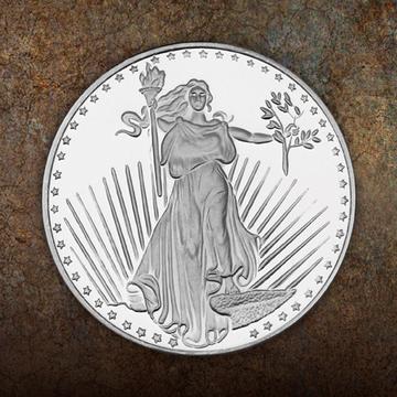 Saint Gaudens Replica 1 Ounce Silver Rounds