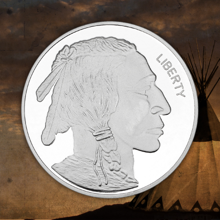 Buffalo Nickel Replica 5 Ounce Silver Rounds