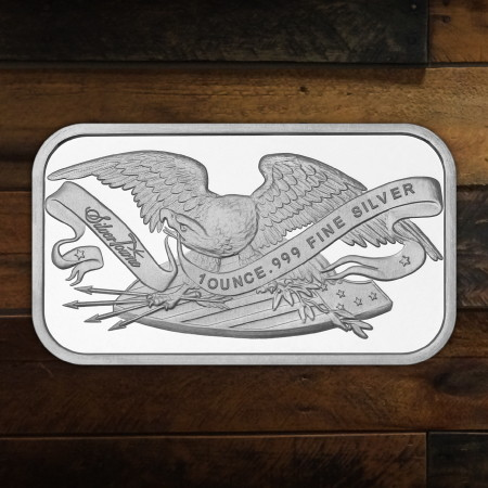 1 Ounce Retro Eagle and Shield Silver Bars