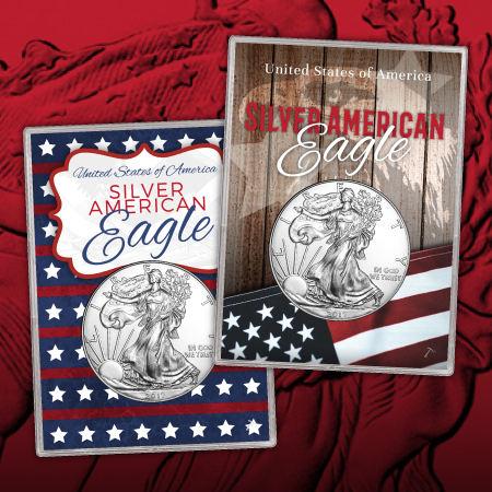 All Occasion Silver American Eagle Gift Holders