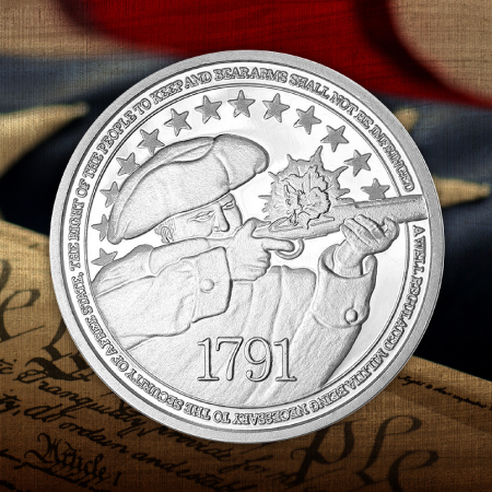 Second Amendment 1 Ounce Silver Rounds