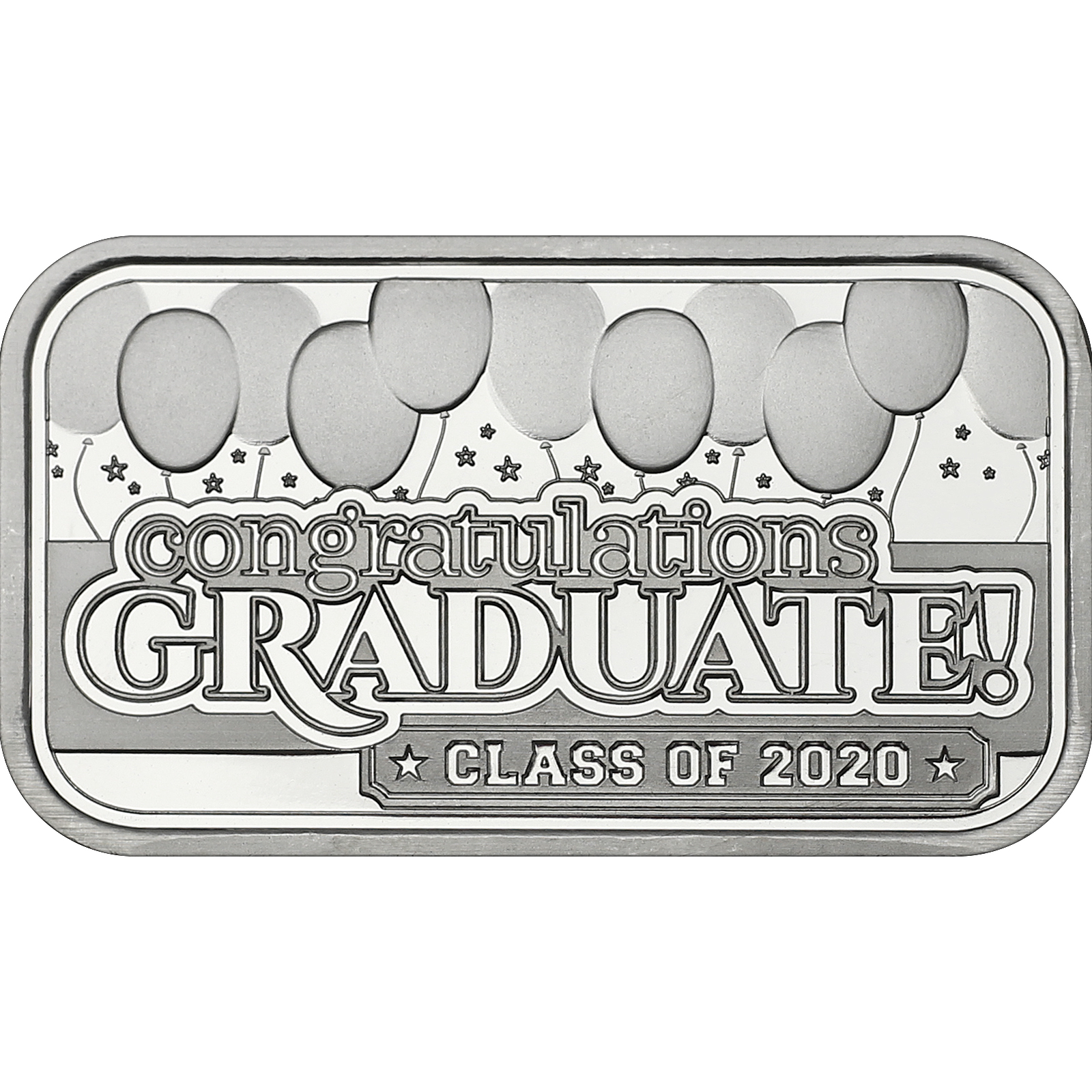 Graduation Class of 2020 1oz .999 Silver Bar by SilverTowne in Gift Packaging