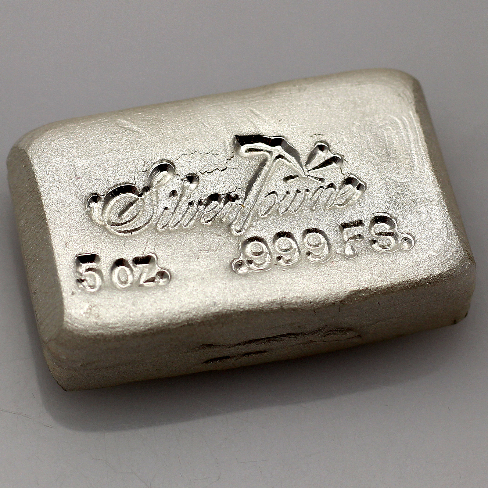 Silvertowne Hand Poured 5oz 999 Fine Silver Bar Ebay