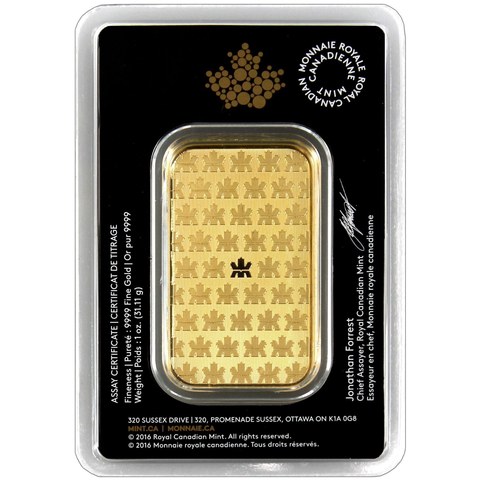 Royal Canadian Mint 1oz Gold Bar Ebay
