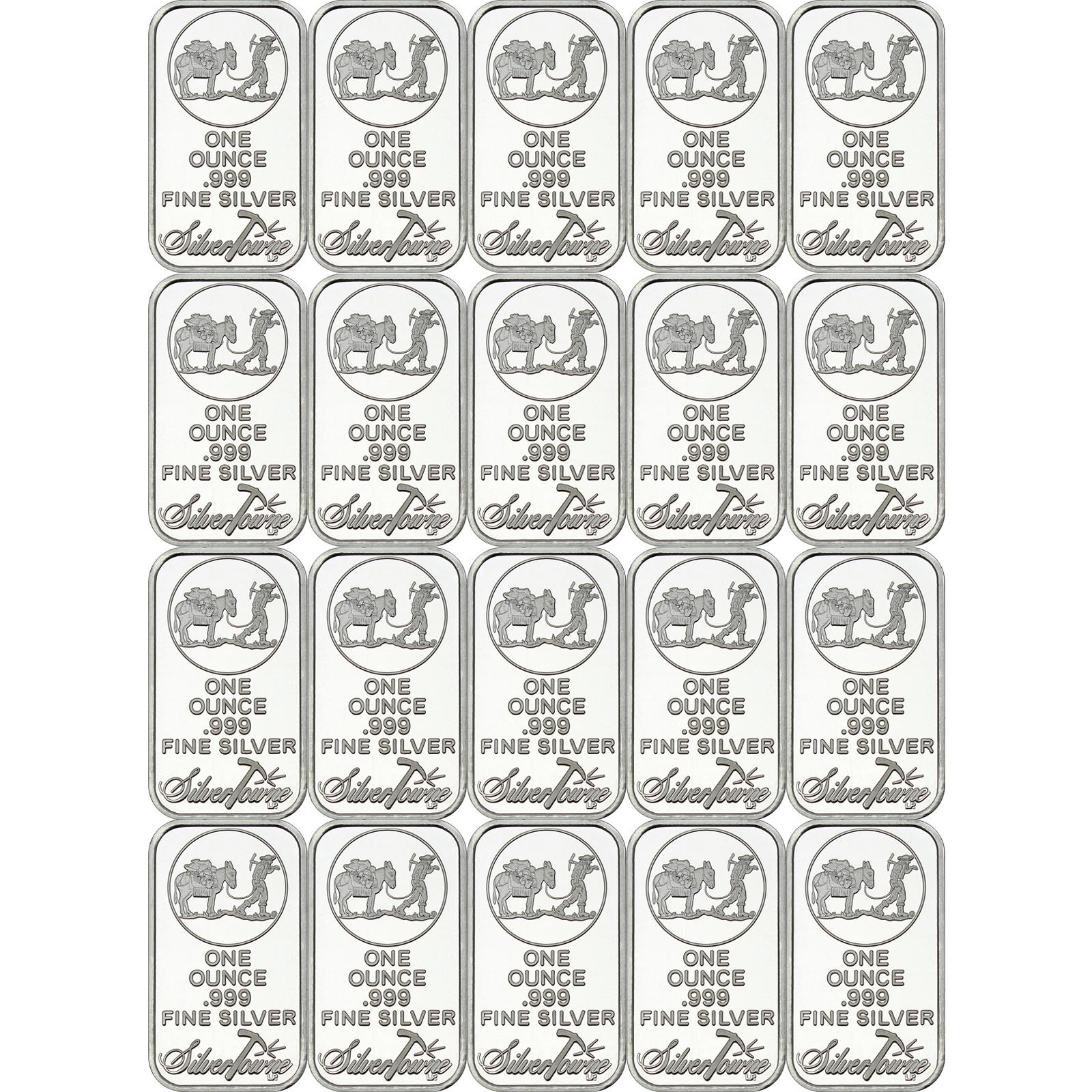 Special Price Silvertowne Logo 1oz 999 Fine Silver Bar