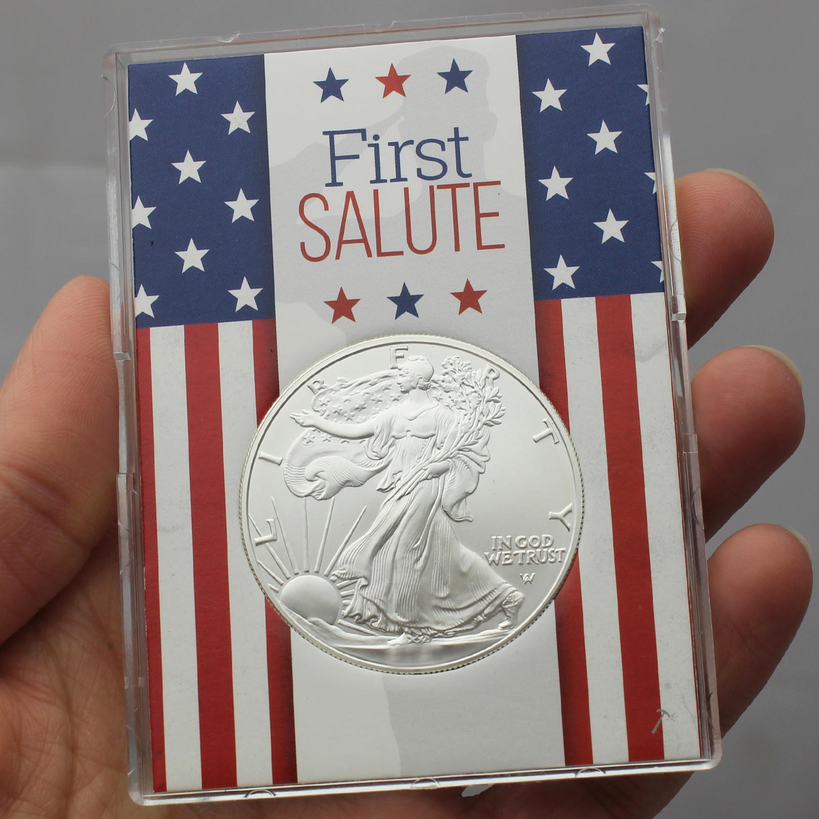 2019 Silver American Eagle Bu In Silver Dollar First