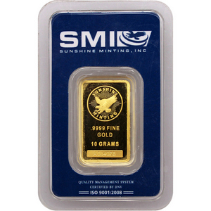 Sunshine Mint 10 Gram Gold Bar - Secondary Market