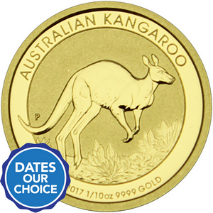 Australia Gold Kangaroo 1/10oz Gold BU Coin Dates Our Choice