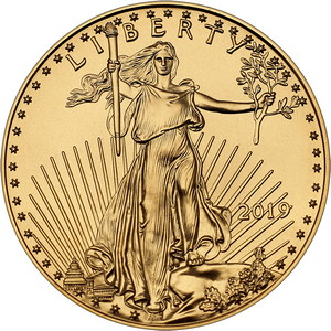2019 Gold American Eagle 1oz BU Gold Coin