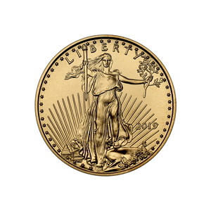 2019 Gold American Eagle Quarter Ounce BU Gold Coin