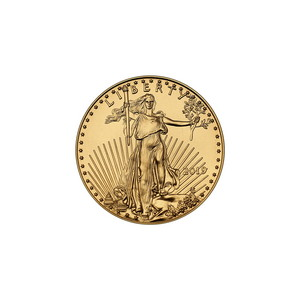 2019 Gold American Eagle Tenth Ounce BU Gold Coin