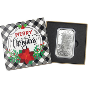 2018 Merry Little Christmas Poinsettia 1oz .999 Silver Medallion