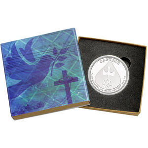 Baptism 1oz .999 Silver Medallion Dated 2020 in Gift Box