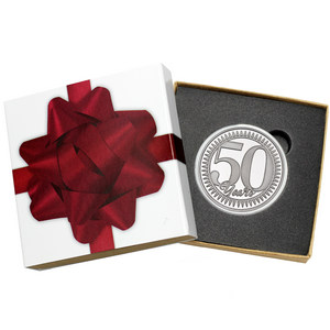 50th Anniversary 1oz .999 Silver Medallion Dated 2020 in Gift Box