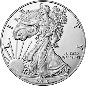 2018 S Silver American Eagle Coin PF in OGP