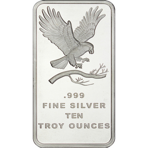 SilverTowne Trademark Eagle 10oz .999 Silver Bar