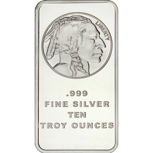Buffalo Replica 10oz .999 Silver Bar