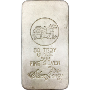 SilverTowne Poured 50oz .999 Silver Bar - Secondary Market