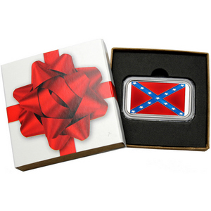 Confederate Flag 1oz .999 Silver Bar Enameled