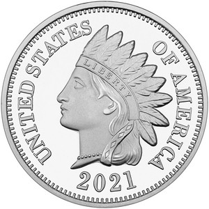2019 Indian Head Cent Replica 1oz .999 Silver Medallion