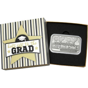 Congratulations Graduate! Class of 2020 1oz .999 Silver Bar in Gift Packaging