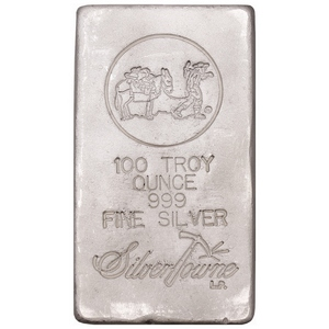 SilverTowne Trademark Poured 100oz .999 Silver Bar