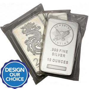 10oz .999 Silver Bar Our Choice Brand - Secondary Market